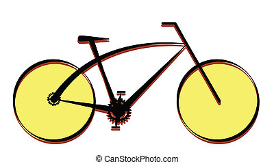 Modern bike icon, vector