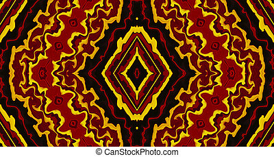 Colorful Tribal Abstract Background - Colorful abstract...
