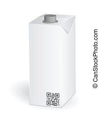 Blank milk or juice carton package, vector