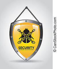 security design - security graphic design , vector...