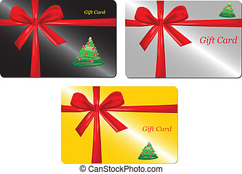 Vector of Christmas gift card (as present)