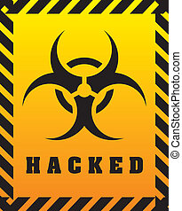 hacked design - hacked graphic design , vector illustration