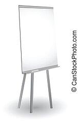 Empty flip chart , vector