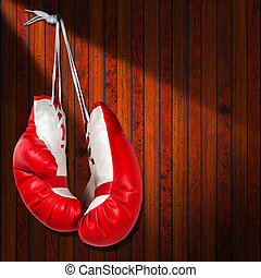 Red and White Boxing Gloves