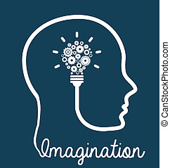 brain design  - brain graphic design , vector illustration