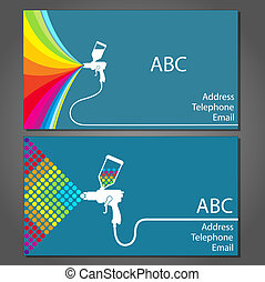 Business card for house painter - business card for house...