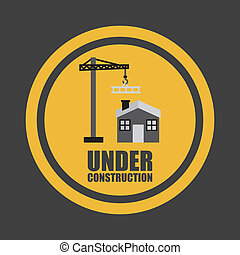 under construction graphic design , vector illustration