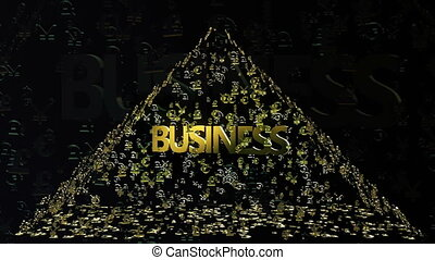 Pyramid of money signs