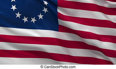 Betsy Ross flag seamless loop - Betsy Ross flag gently...