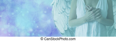 Angel with hands on heart - Cropped Angel showing torso in...