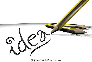 IDea pencil - Creative design of idea pencil
