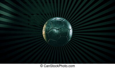 Soccer ball on a sunburst 4