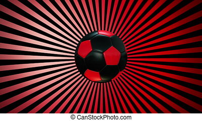Soccer ball on a sunburst 1 - Soccer ball on a sunburst...