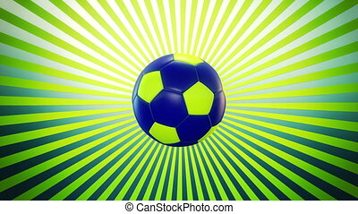 Soccer ball on a sunburst 2