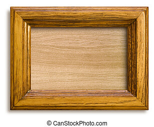 frame with wooden background