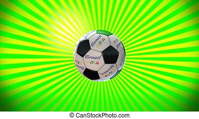 Soccer ball on a sunburst 6