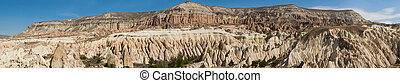 Cappadocia - Wide panoramic photo of beautiful mountains...