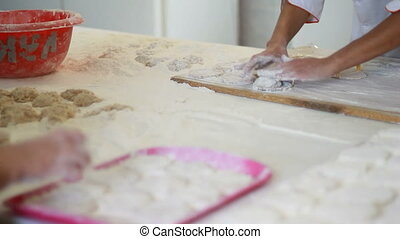 process of handmade dough - The process of handmade dough,...