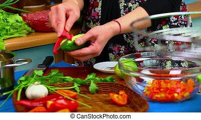 Woman preparing to eat episode 2