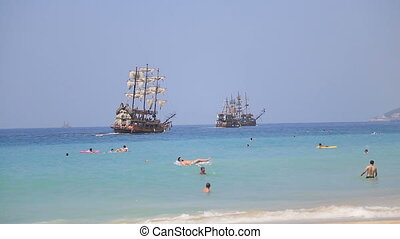 Summer holiday scenics( Cleopatra beach Alanya Antalya...