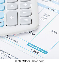 Calculator and utility bill - 1 to 1 ratio