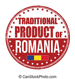 Traditional product of Romania stamp
