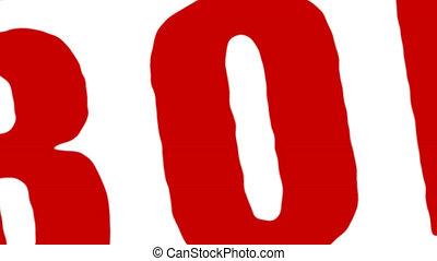 Rubber Stamp Ebola Virus Alert - Red rubber stamp transition...