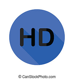high definition flat icon - colorful illustration with high...