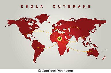 ebola world outbreak graphic propagation