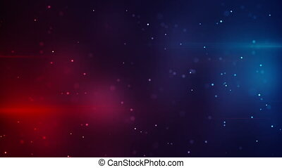 blue red lights and particles modern loopable background -...