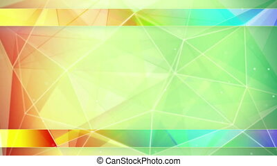 colorful triangles abstract geometrical background loop -...