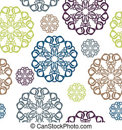 Seamless pattern with circle elemen - Vintage seamless...