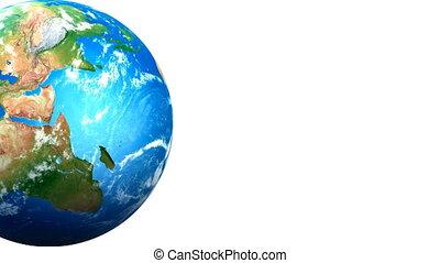 Joe pushing Earth - Human character pushing earth, revealing...