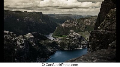 4K, Epic time lapse of Preikestolen - 4K, Epic and dramatic...