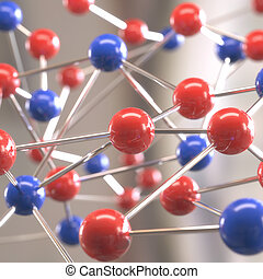 Molecular Structure - Molecular structure with spheres...