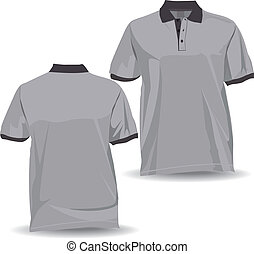 Shirt with collar and half sleeves