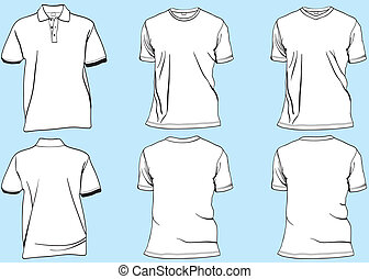 Tshirt set - Tshirt template set front and back