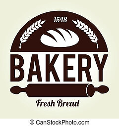 Bakery design over beige background, vector illustration
