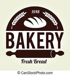 Bakery design over beige background, vector illustration