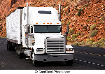 Truck on the road, USA, United States of America