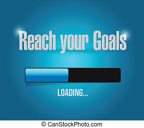 reach your goals loading bar illustration