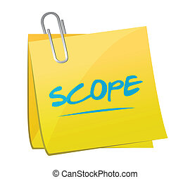 scope memo post illustration design over a white background