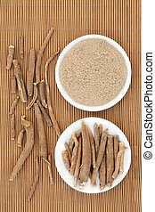 Ginseng Herb - Ginseng ashwagandha herb root and korean...