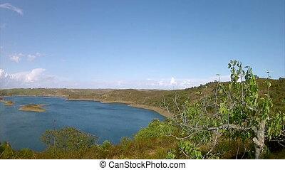 Beliche Dam Pan Timelapse A - Algarve Beliche dam landscape...