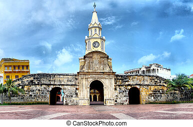Torre del Reloj - Cartagena, Colombia - Clock Tower -...