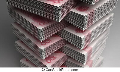 Stack of Chinese Yuan