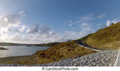 Beliche Dam Pan Timelapse C - Algarve Beliche dam landscape...