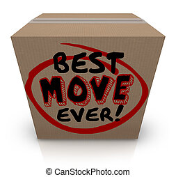 Best Move Ever Packing Cardboard Box Moving New Home - Best...
