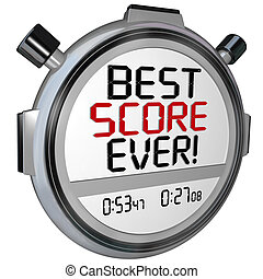 Best Score Ever Timer Stopwatch Record Breaking Performance...