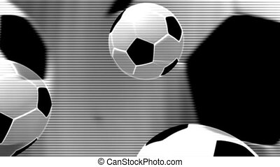 Black and White Soccer Loop three - Black and White Soccer...